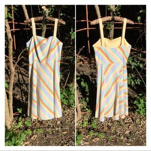 Vintage Dresses - Vintage Candy Striped Fit n Flare Summer Dress